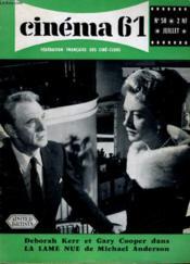 Cinema 61 N° 58 - Deborah Kerr Et Gary Cooper Dans La Lame Nue De Micheael Anderson - Couverture - Format classique