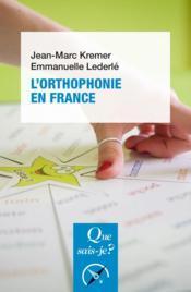 L'orthophonie en France (9e édition) - Couverture - Format classique