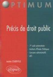 Precis De Droit Public 1er Cycle Universitaire Instituts D'Etudes Politiques Concours Administratifs - Intérieur - Format classique