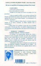 Dans La Guinee De Sekou Toure : Cela A Bien Eu Lieu - 4ème de couverture - Format classique