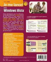 Je me lance avec windows vista - 4ème de couverture - Format classique