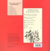 Reconnaître... les fleurs des bois - 4ème de couverture - Format classique