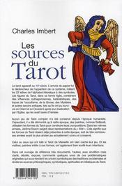 Les Sources Du Tarot Dans L'Art Occidental Royal Et Sacre - 4ème de couverture - Format classique