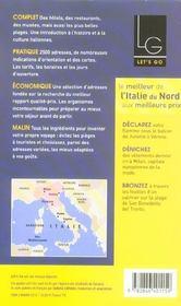 Italie du Nord (édition 2005) - 4ème de couverture - Format classique