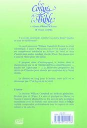 Le Coran Et La Bible A La Lumiere De L'Histoire Et De La Science - 4ème de couverture - Format classique
