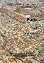 Carte Archeologique De La Gaule T.75 ; Paris - Couverture - Format classique