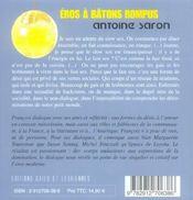 Eros A Batons Rompus - 4ème de couverture - Format classique
