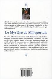 Le mystère de millepertuis - 4ème de couverture - Format classique