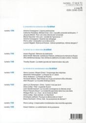 Revue Le Debat N.162 ; Novembre-Décembre 2010 - 4ème de couverture - Format classique