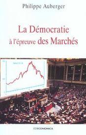 La democratie a l'epreuve des marches - Intérieur - Format classique
