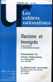 Les Cahiers Rationalistes N°408 - Racisme Et Immigre - Presentation De L'Union Rationaliste - Couverture - Format classique