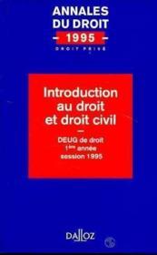 Introduction Au Droit Et Droit Civil 1995 - Couverture - Format classique