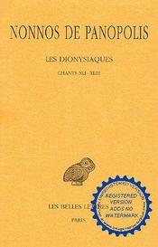 Dionysiaques t15 ch41-43 - Intérieur - Format classique