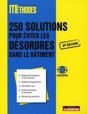 Le désordre dans le bâtiment ; 250 solutions - Intérieur - Format classique