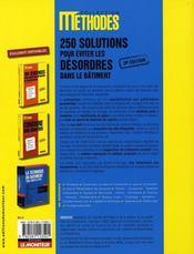 Le désordre dans le bâtiment ; 250 solutions - 4ème de couverture - Format classique