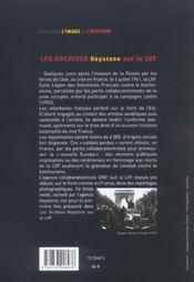 Les archives Keystone sur la LVF - 4ème de couverture - Format classique
