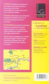 *Londres (édition 2005) - 4ème de couverture - Format classique