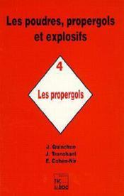 Les Poudres, Propergols Et Explosifs - Tome 4 - Couverture - Format classique