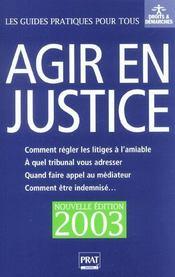 Agir En Justice 2003 - Intérieur - Format classique