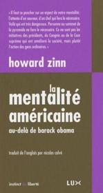 La mentalité américaine - Couverture - Format classique