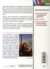 La boite à outil du chargé de communication ; le guide des attachés de presse et communicants - 4ème de couverture - Format classique