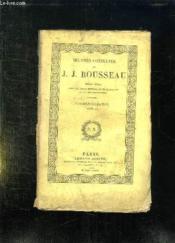 Oeuvres Completes De Jj Rousseau Tome 15: Correspondance Tome Ii. - Couverture - Format classique
