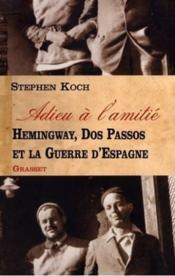 Adieu A L'Amitie - Couverture - Format classique