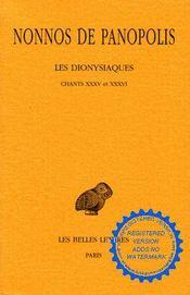 Dionysiaques t12 ch 35-36 (les) - Intérieur - Format classique