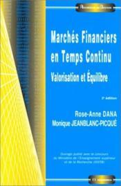 Marches Financ. Temps Cont 2ed - Couverture - Format classique