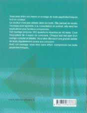 Tests psychotechniques ; ifsi, ifap et écoles de travailleurs sociaux - 4ème de couverture - Format classique