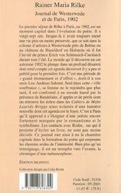 Journal de westerwede et de paris 1902 - 4ème de couverture - Format classique