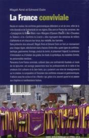 La france conviviale ; guide des confréries gastronomiques et sociétés gourmandes - 4ème de couverture - Format classique