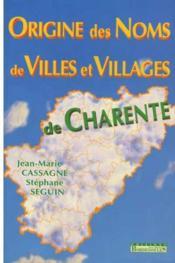Origine Noms Villes Et Villages En 16 - Couverture - Format classique