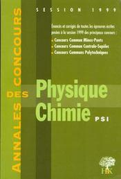 Physique-Chimie Psi - Intérieur - Format classique