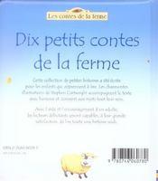 Dix etits contes de la ferme t.1 - 4ème de couverture - Format classique