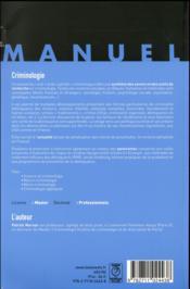 Criminologie (2e édition) - 4ème de couverture - Format classique