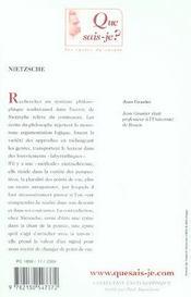 Nietzsche (8e ed) qsj 2042 (8e édition) - 4ème de couverture - Format classique