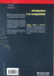 Introduction A La Comptabilite - 4ème de couverture - Format classique