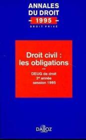 Droit Civil: Les Obligations - Couverture - Format classique