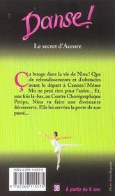 Danse t.22 ; le secret d'aurore - 4ème de couverture - Format classique