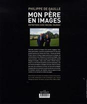 Mon père en images ; entretiens avec Michel Tauriac - 4ème de couverture - Format classique