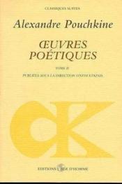 Oeuvres Poetiques 2 - Couverture - Format classique