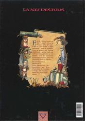 La nef des fous t.1 ; eauxfolles - 4ème de couverture - Format classique