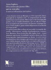 Excursion Des Jeunes Filles Qui Ne Sont Plus (L') - 4ème de couverture - Format classique