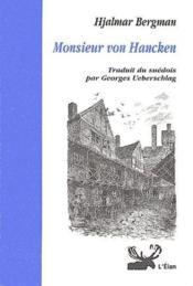 Monsieur von hancken - Couverture - Format classique