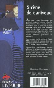 Sirenes de caniveau - 4ème de couverture - Format classique