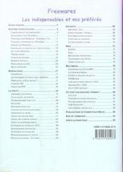 Competence Micro ; Freewares, Les Indispensables - 4ème de couverture - Format classique