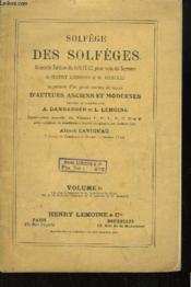 Solfège des Solfèges. Nouvelle édition pour voix de Soprano. VOLUME 6 - Couverture - Format classique