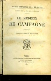 Le Medecin De Campagne - Couverture - Format classique