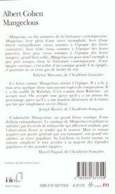 Mangeclous - 4ème de couverture - Format classique